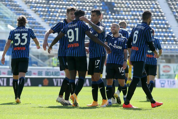 Calcio Atalanta festeggia 113o con la Samp
