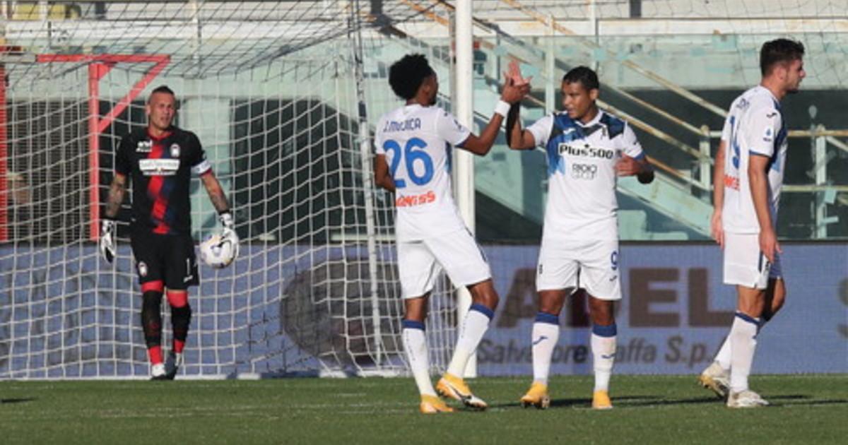 Doppietta Muriel lAtalanta vince 2 1 a Crotone