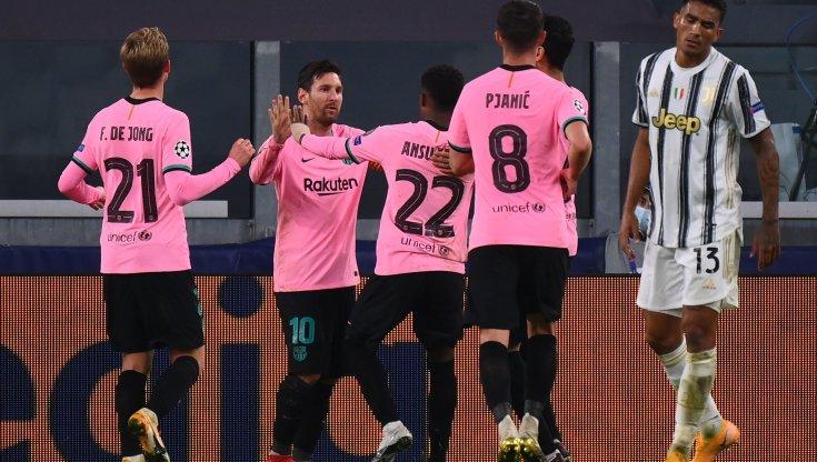 Juventus Barcellona 0 2 Dembele e Messi catalani ancora troppo forti