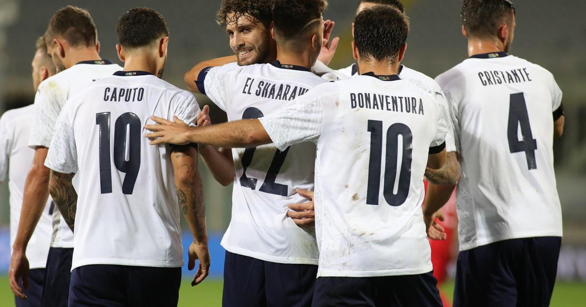 LItalia prende a pallonate la Moldavia 6 0 a in amichevole doppietta di El Shaarawy