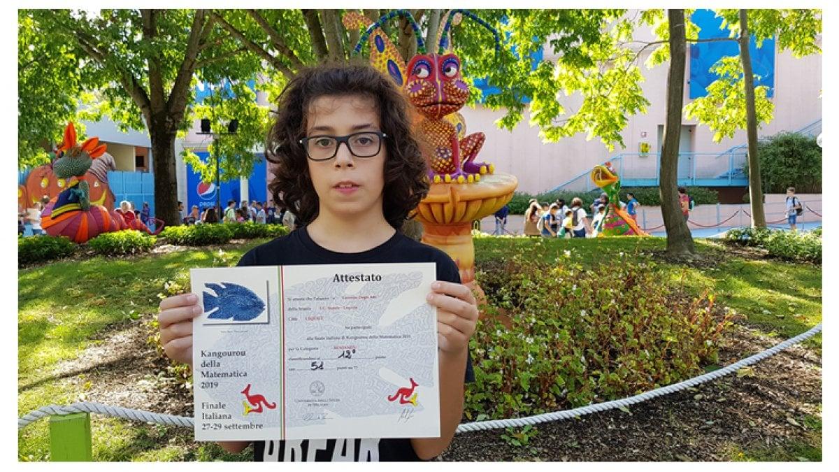 Lorenzo a 13 anni e il campione italiano di matematica Ora sogno di studiare in America