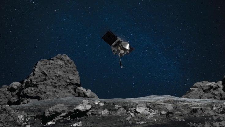 Spazio la sonda della Nasa raggiunge lasteroide Bennu e raccoglie materiale cosmico