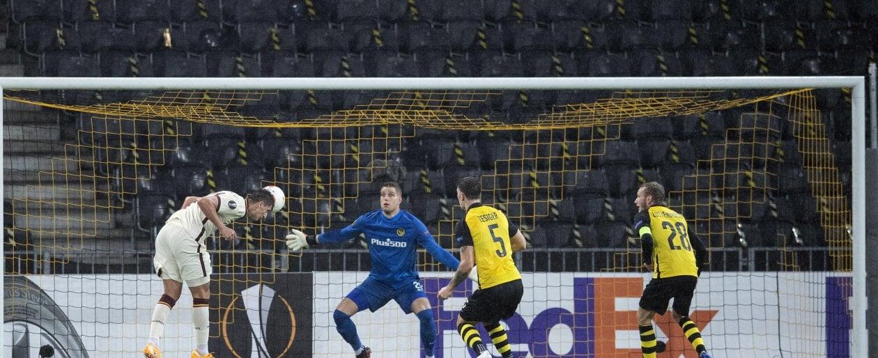 Young Boys Roma 1 2 Peres e Kumbulla fanno partire i giallorossi col piede giusto