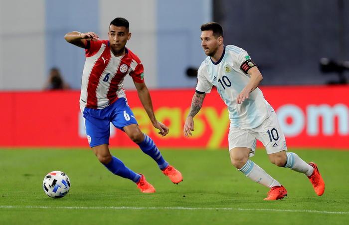 Argentina Paraguay 1 1 Var ferma Messi