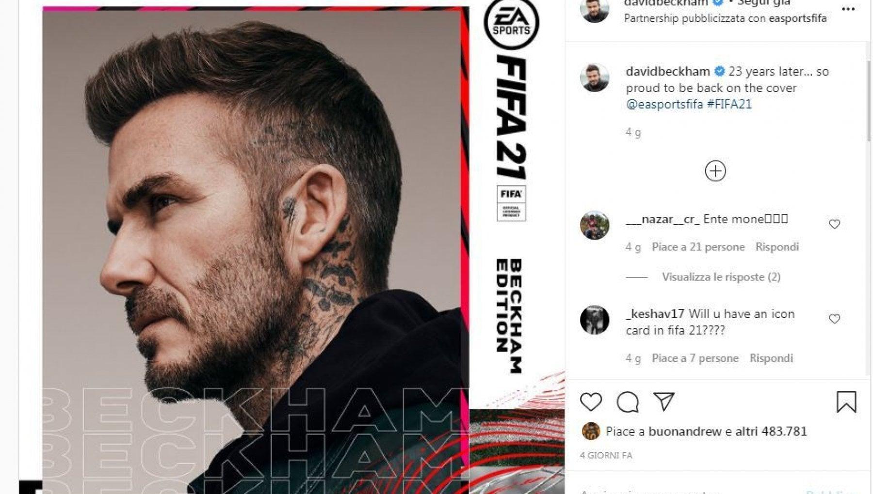 Calcio Beckham guadagnera di piu nel videogame che sul campo