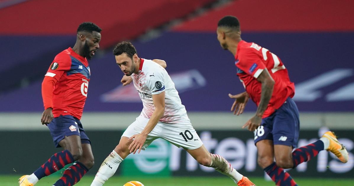 Europa League al Milan non basta Castillejo e con il Lille finisce 1 1