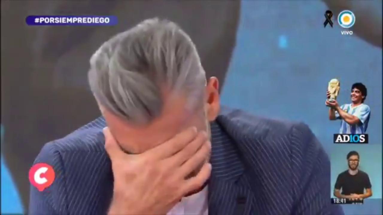 Il pianto disperato in tv dellex compagno di nazionale Goycochea