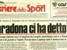 Il regalo di Maradona e linvito al Napoli