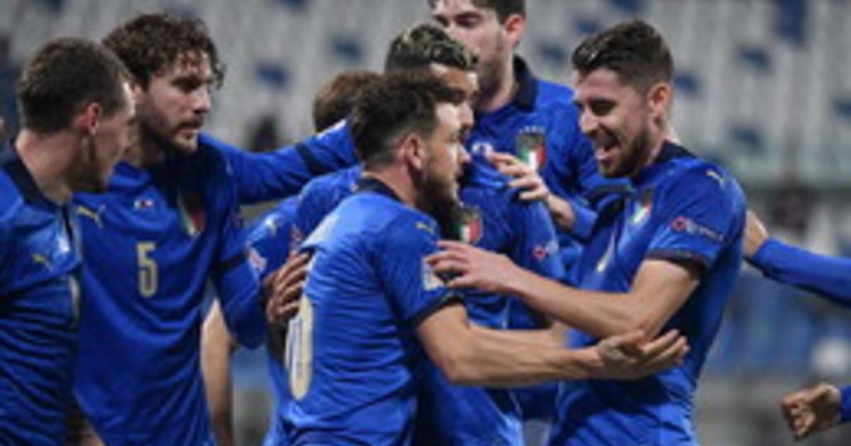 Jorginho Berardi lItalia batte la Polonia 2 0 in Nations League