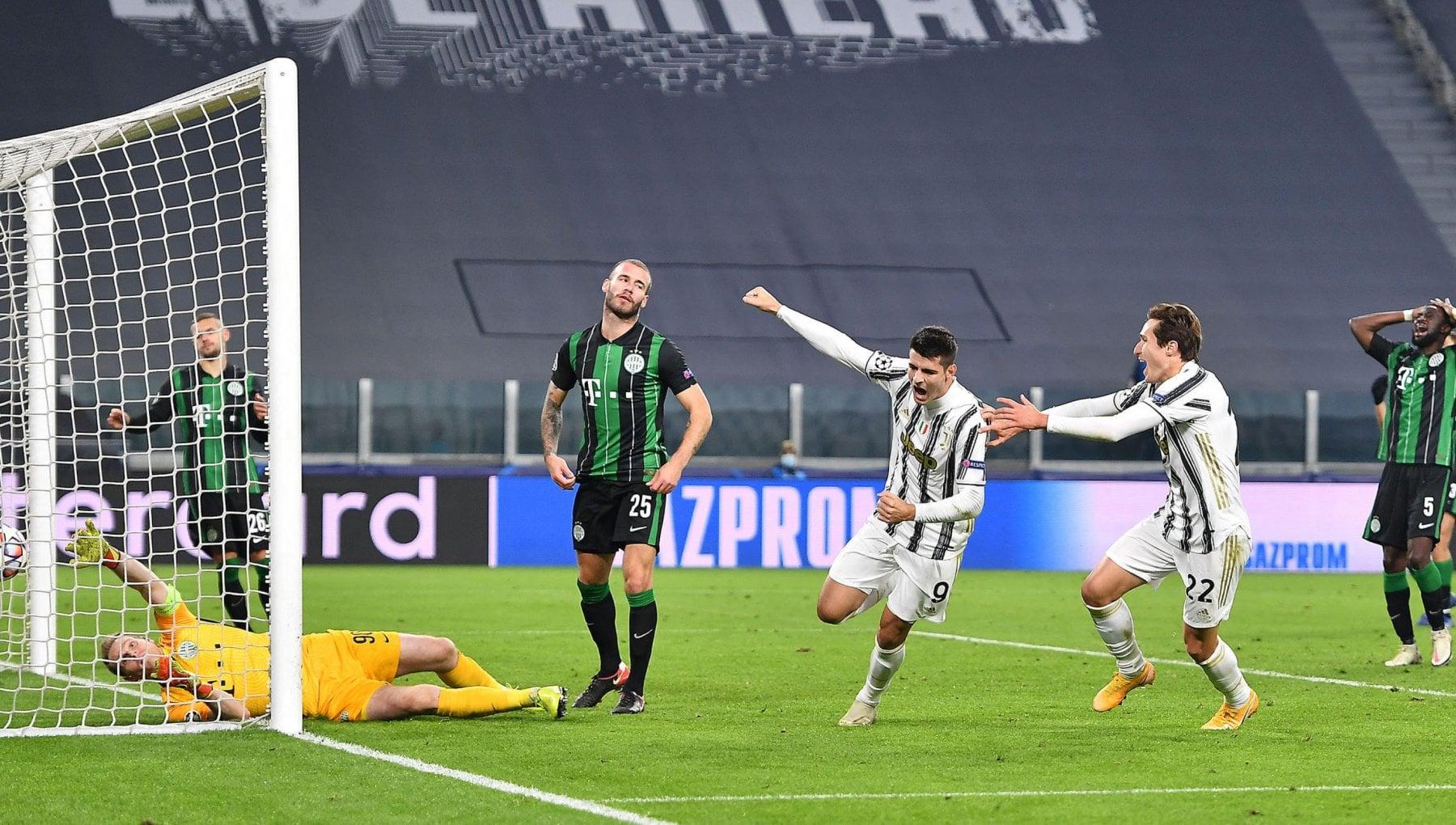 Juventus Ferencvaros 2 1 Morata al 92 manda i bianconeri agli ottavi