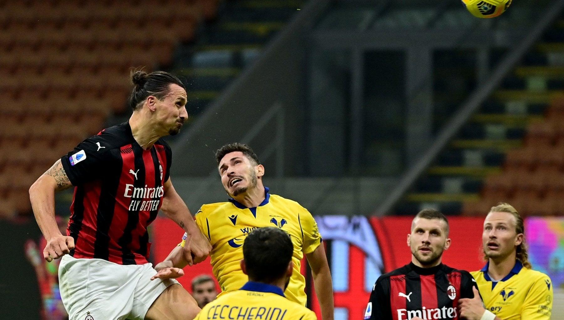 Milan Verona 2 2 Ibrahimovic prima sbaglia un rigore poi salva i rossoneri al 92