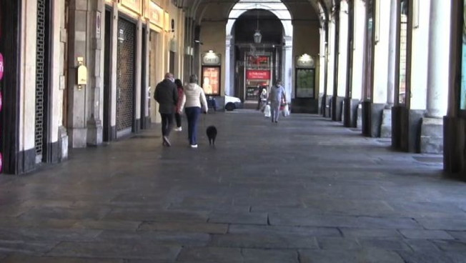 Primo weekend di lockdown a Torino il centro e semi deserto