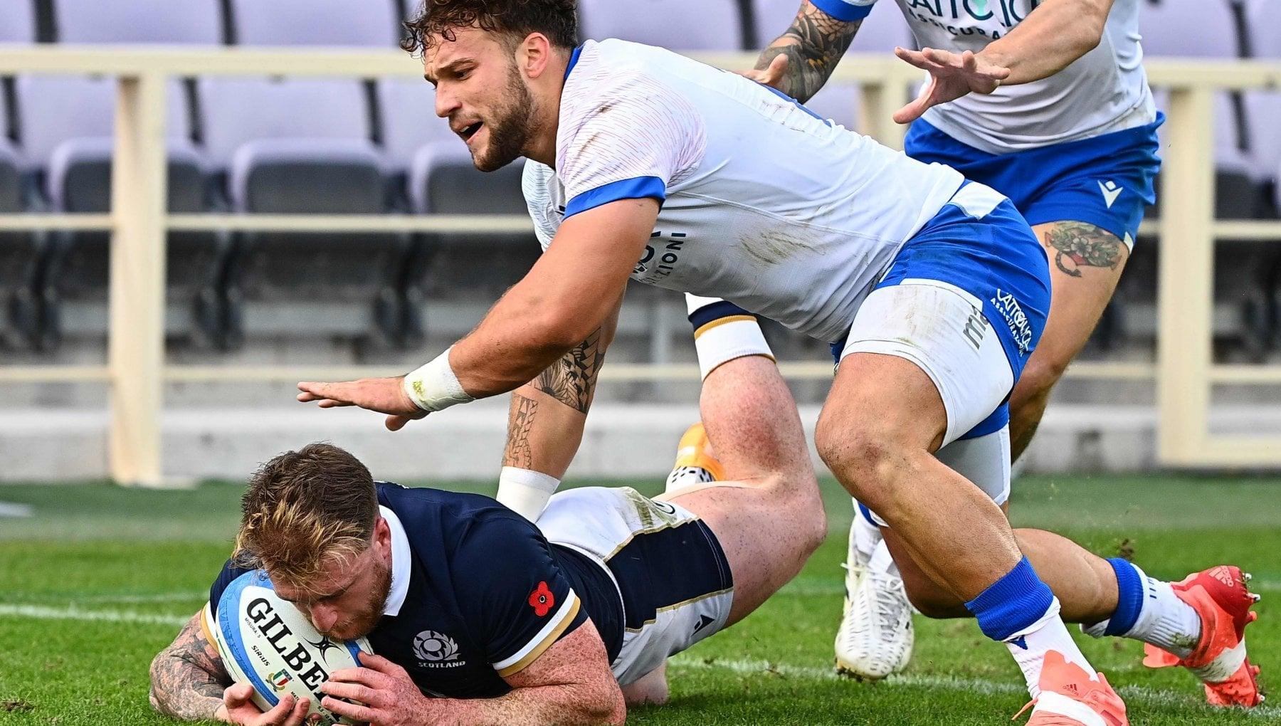 Rugby Autumn Nations Cup niente da fare per lItalia vince la Scozia