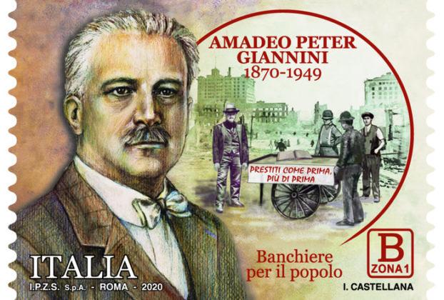Un francobollo per ricordare il grande banchiere Giannini