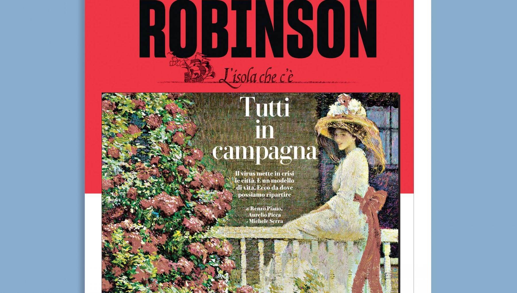 Voglio vivere in campagna su Robinson in edicola da sabato