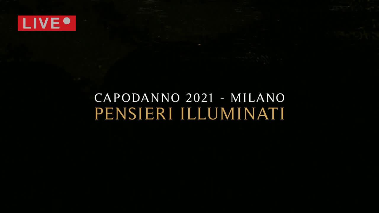 Capodanno 2021 Pensieri illuminati a Milano per larrivo del nuovo anno