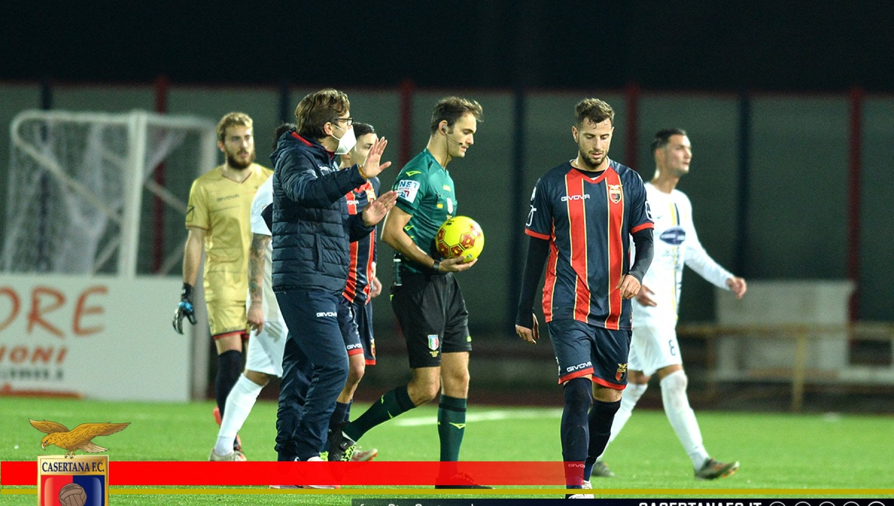 Casertana positivi al Covid due giocatori scesi in campo contro la Viterbese