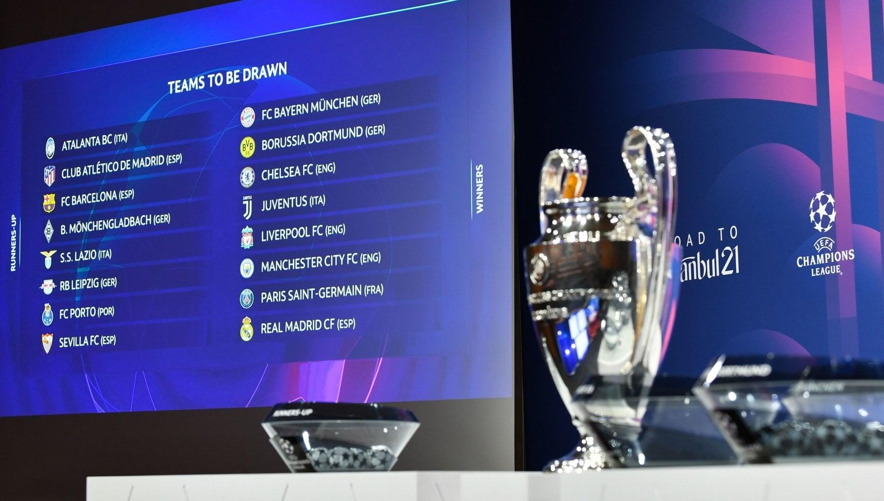 Champions sorteggio ottavi la Juve trova il Porto Bayern e Real per Lazio e Atalanta