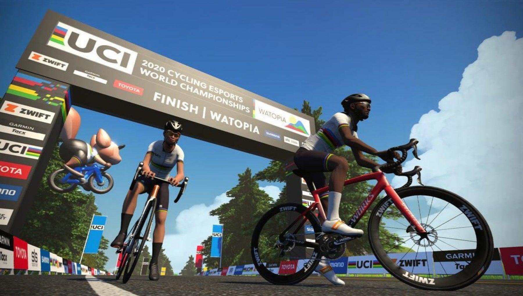 Ciclismo il Mondiale virtuale con corridori reali