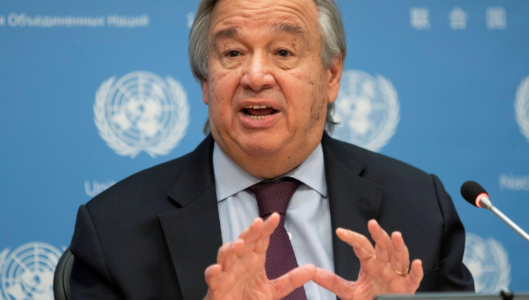 Clima lappello di Guterres I leader mondiali dichiarino lo stato di emergenza