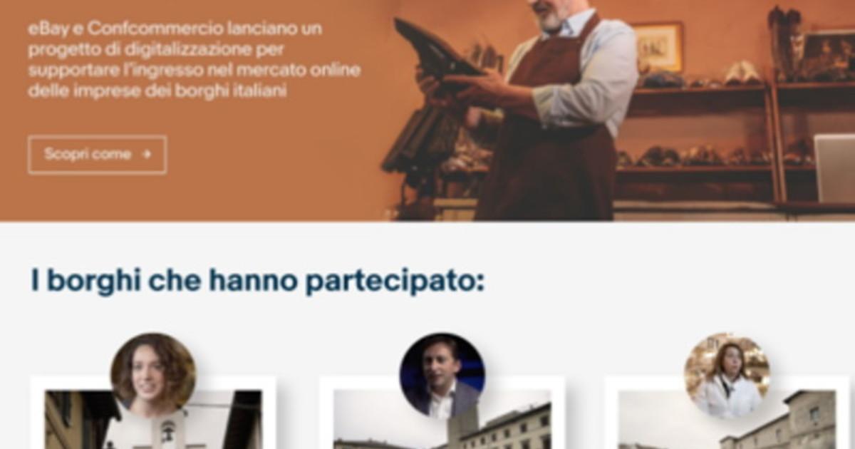 E commerce eBay e Confcommercio digitalizzano borghi italiani