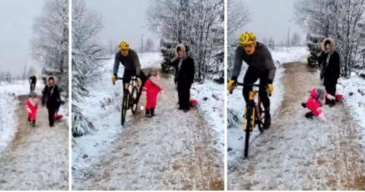 Ginocchiata a una bambina in strada la sera di Natale il ciclista che sconvolge il Belgio rischia una fine tremenda Guarda
