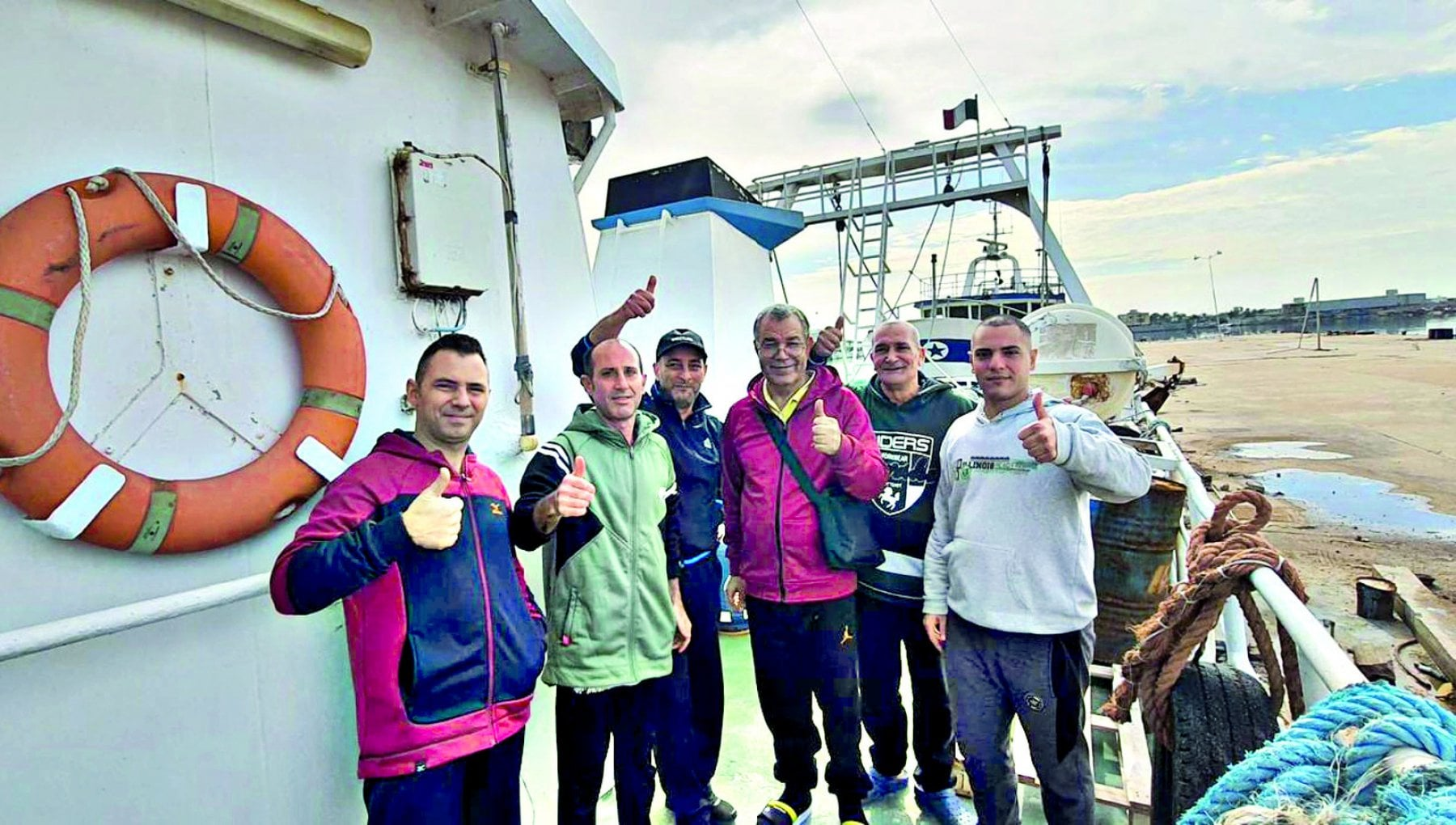 Libia i pescherecci liberati sono in navigazione verso Mazara