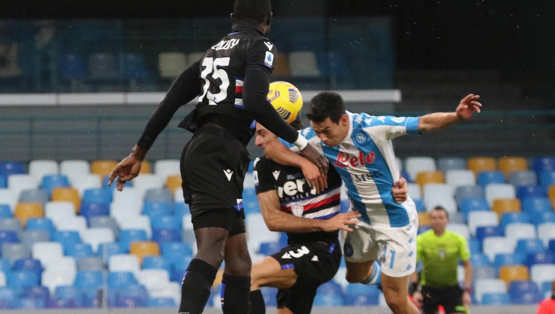 Napoli Sampdoria 2 1 Lozano e Petagna ribaltano i blucerchiati