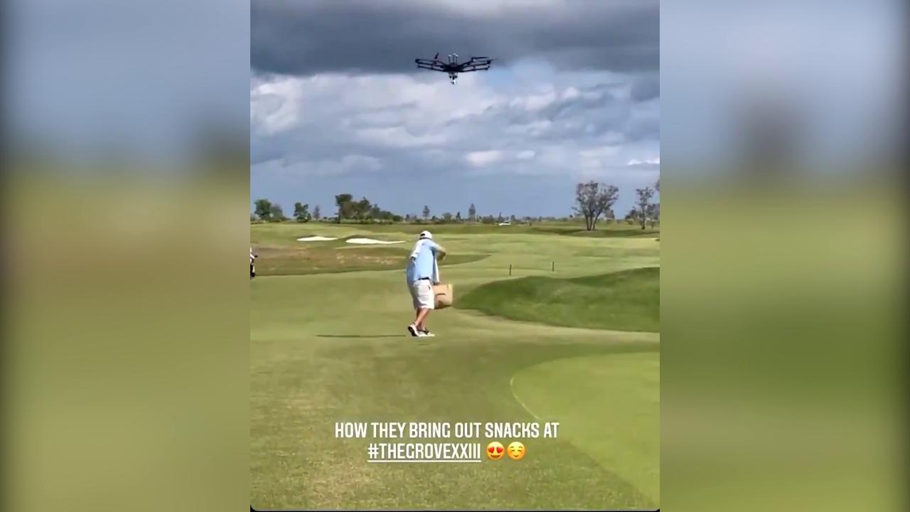 Pausa birra Nel campo da golf di Michael Jordan la porta il drone 1