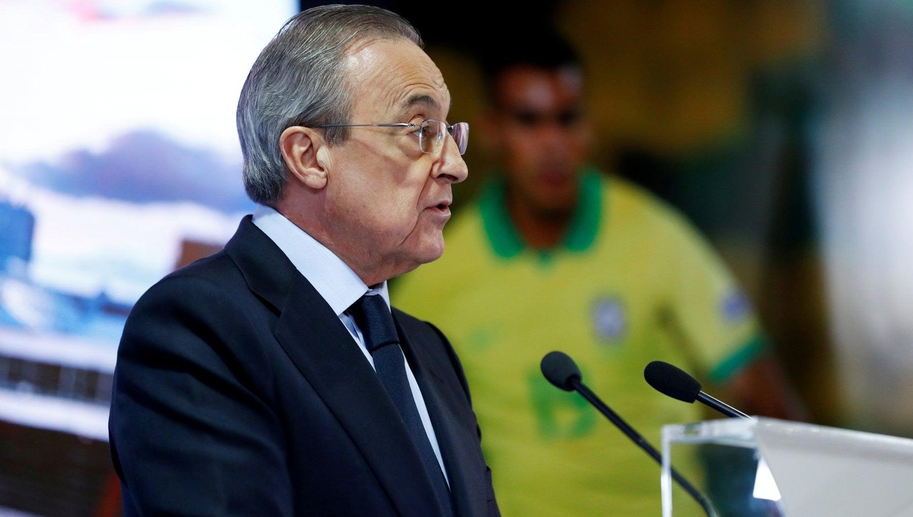 Real Madrid Florentino Perez lancia la Superlega europea Al calcio serve una nuova formula