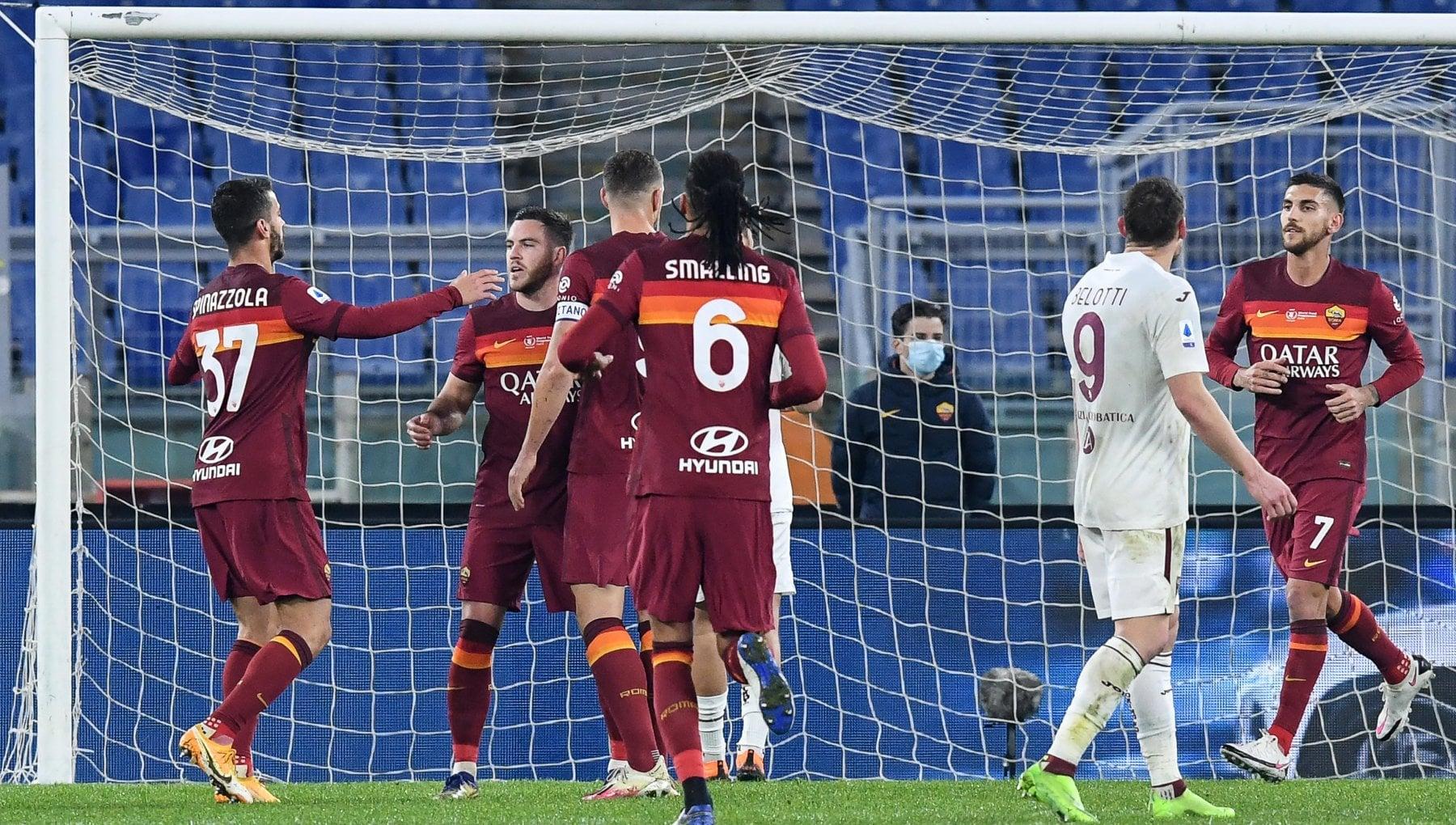 Roma Torino 3 1 Mkhitaryan Veretout e Pellegrini lanciano i giallorossi al terzo posto