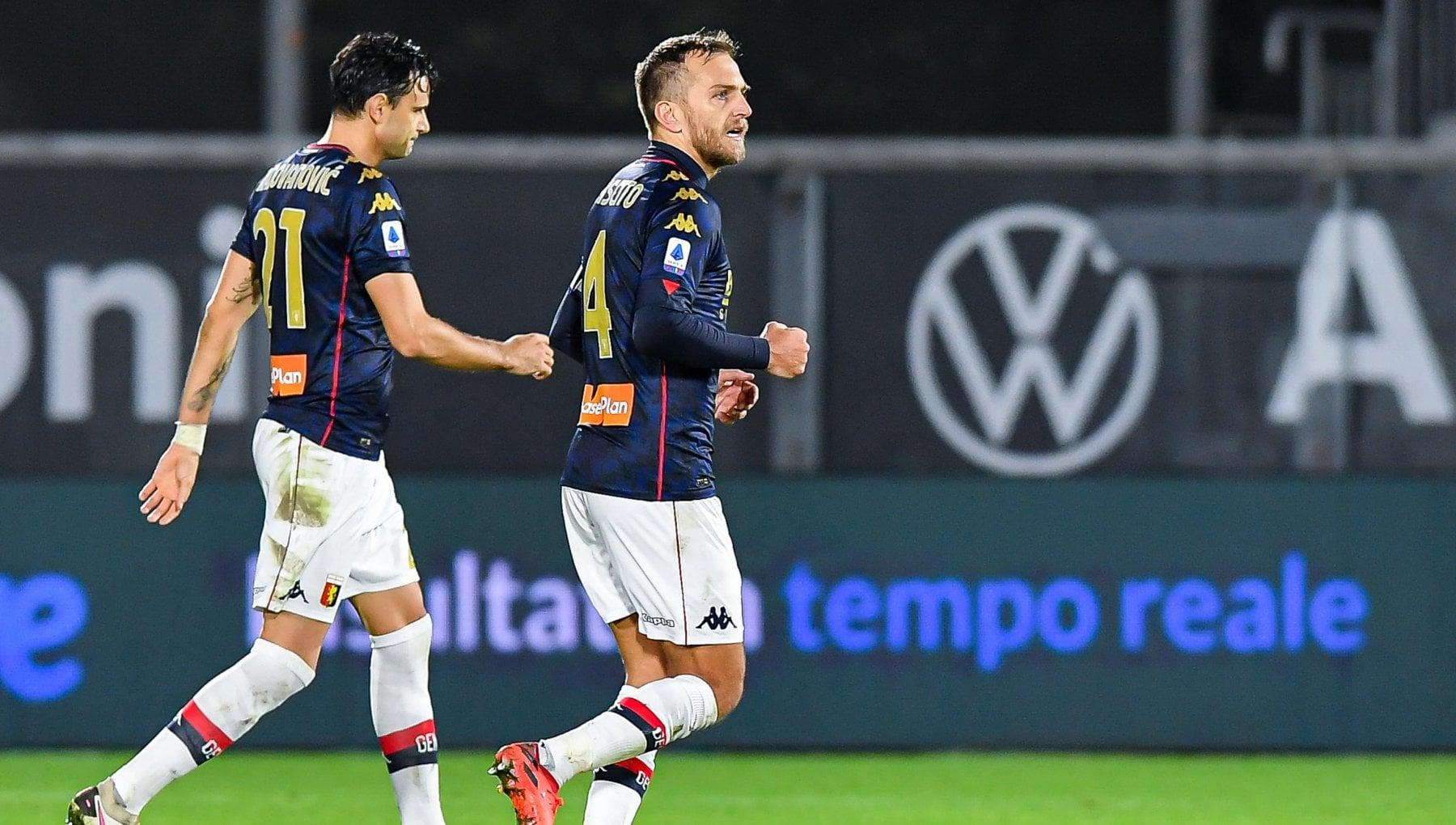 Spezia Genoa 1 2 Destro e Criscito ribaltano tutto Ballardini fa subito festa