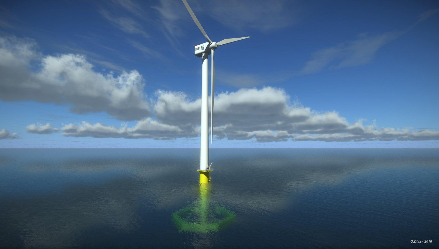 Una pala in mezzo al mare. In Sicilia il piu grande parco eolico galleggiante del mondo