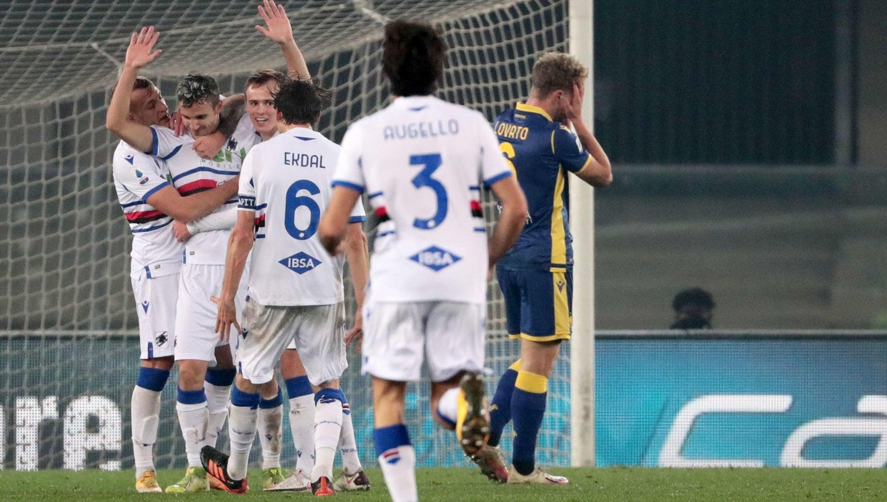 Verona Sampdoria 1 2 Ekdal e Verre rlanciano i doriani