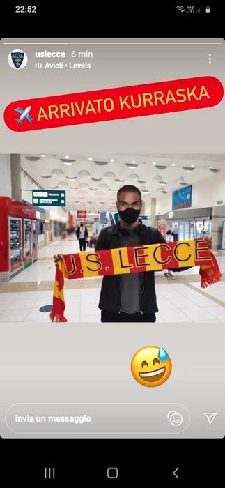 A Lecce arriva Kurraska scherzo tifosi inganna tutti