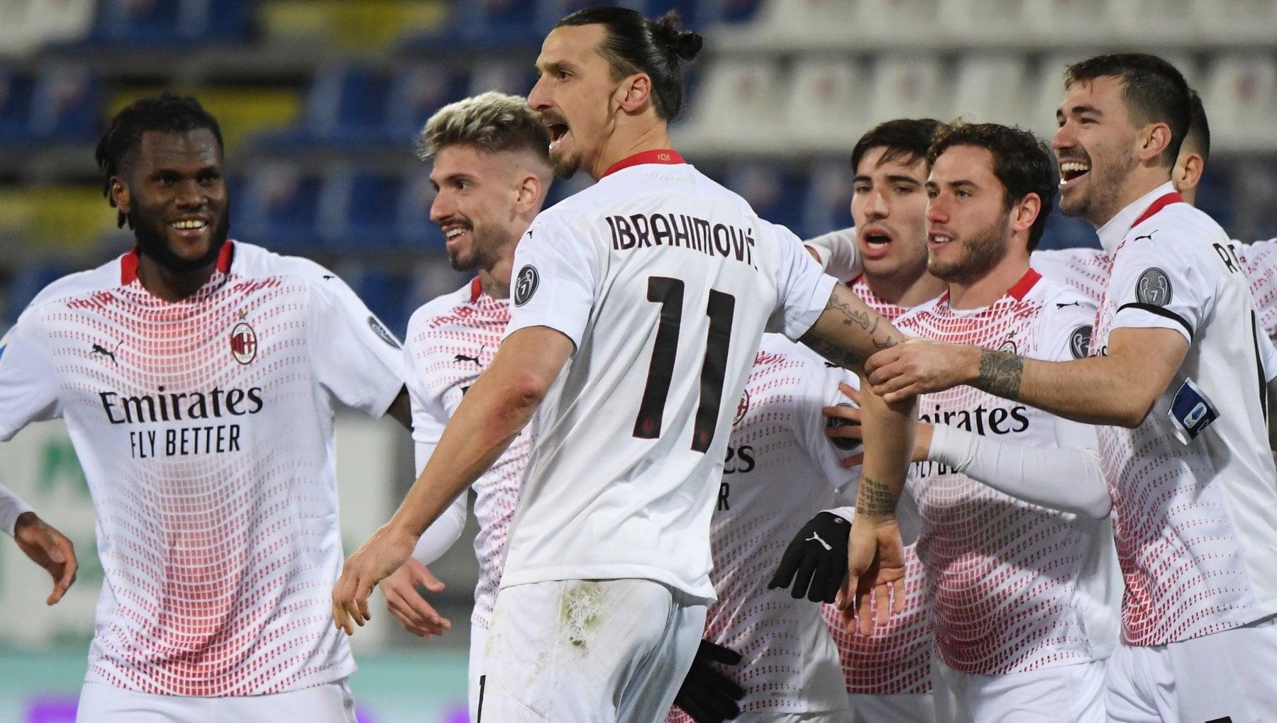 Cagliari Milan 0 2 doppietta di Ibrahimovic rossoneri sempre soli in vetta