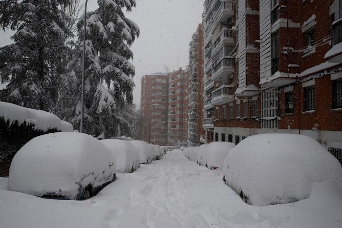 Calcio tempesta di neve rinviata Atletico Athletic Bilbao