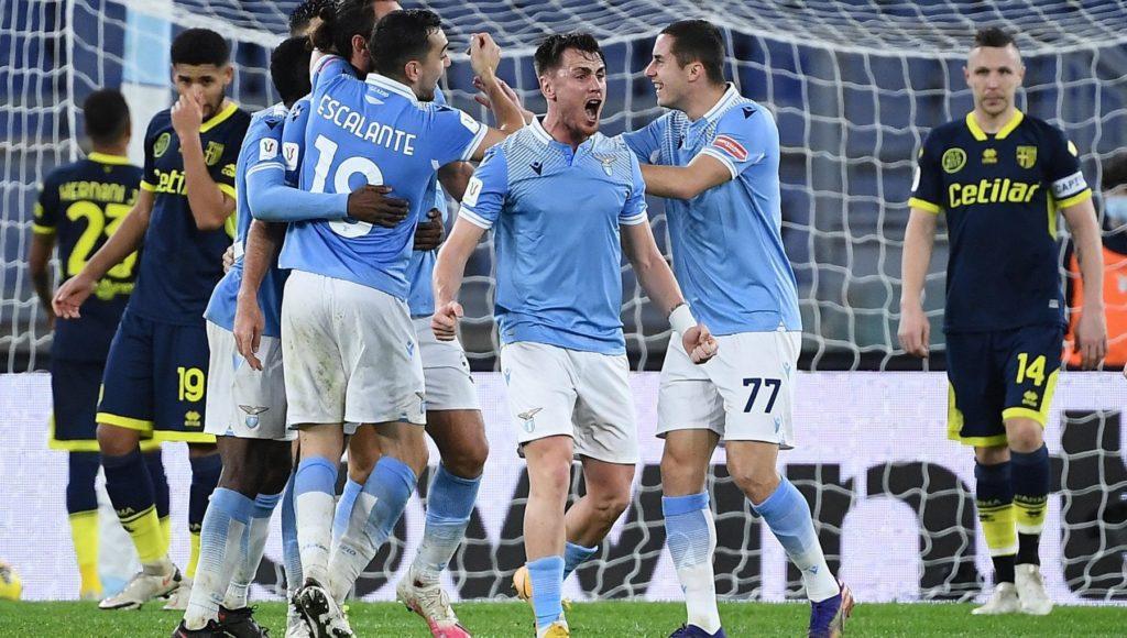 Coppa Italia Lazio Parma 2 1 al 90 i biancocelesti si guadagnano lAtalanta