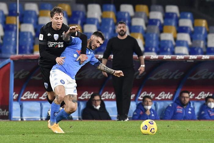 Coppa Italia in campo Napoli Empoli 2 1 LIVE