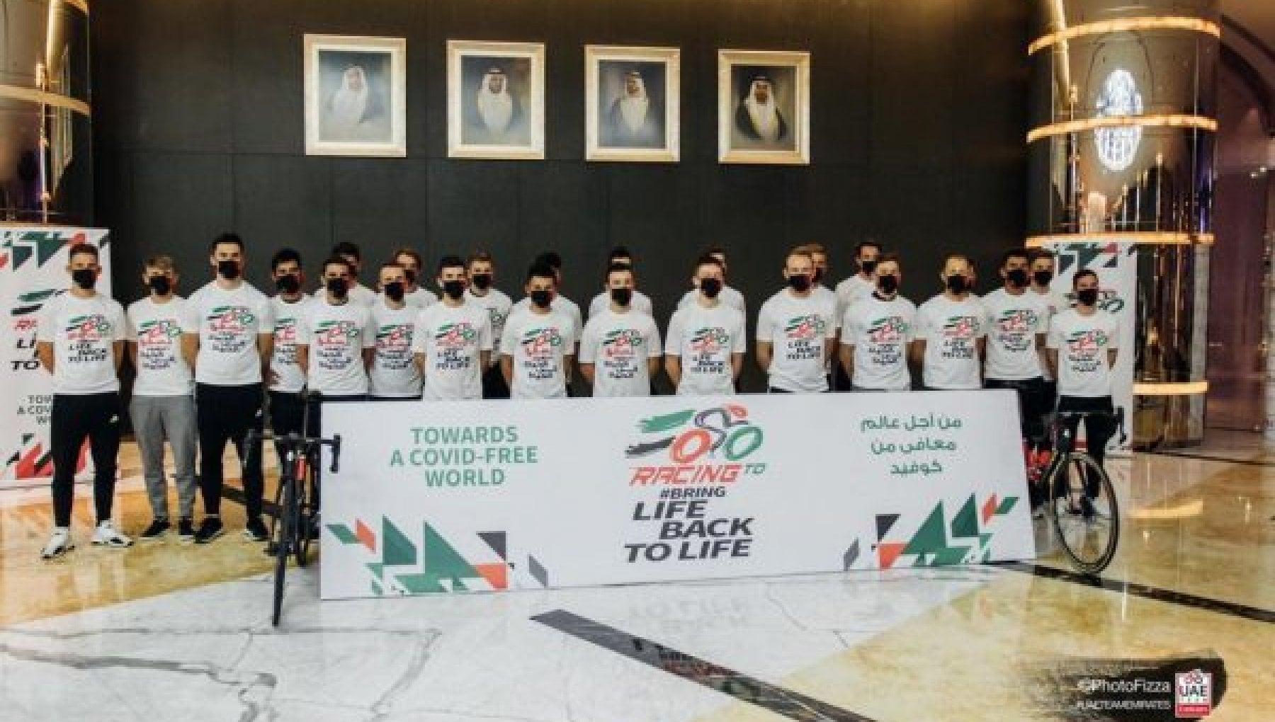Il ciclismo va veloce contro il Covid il team UAE Emirates e il primo a vaccinarsi