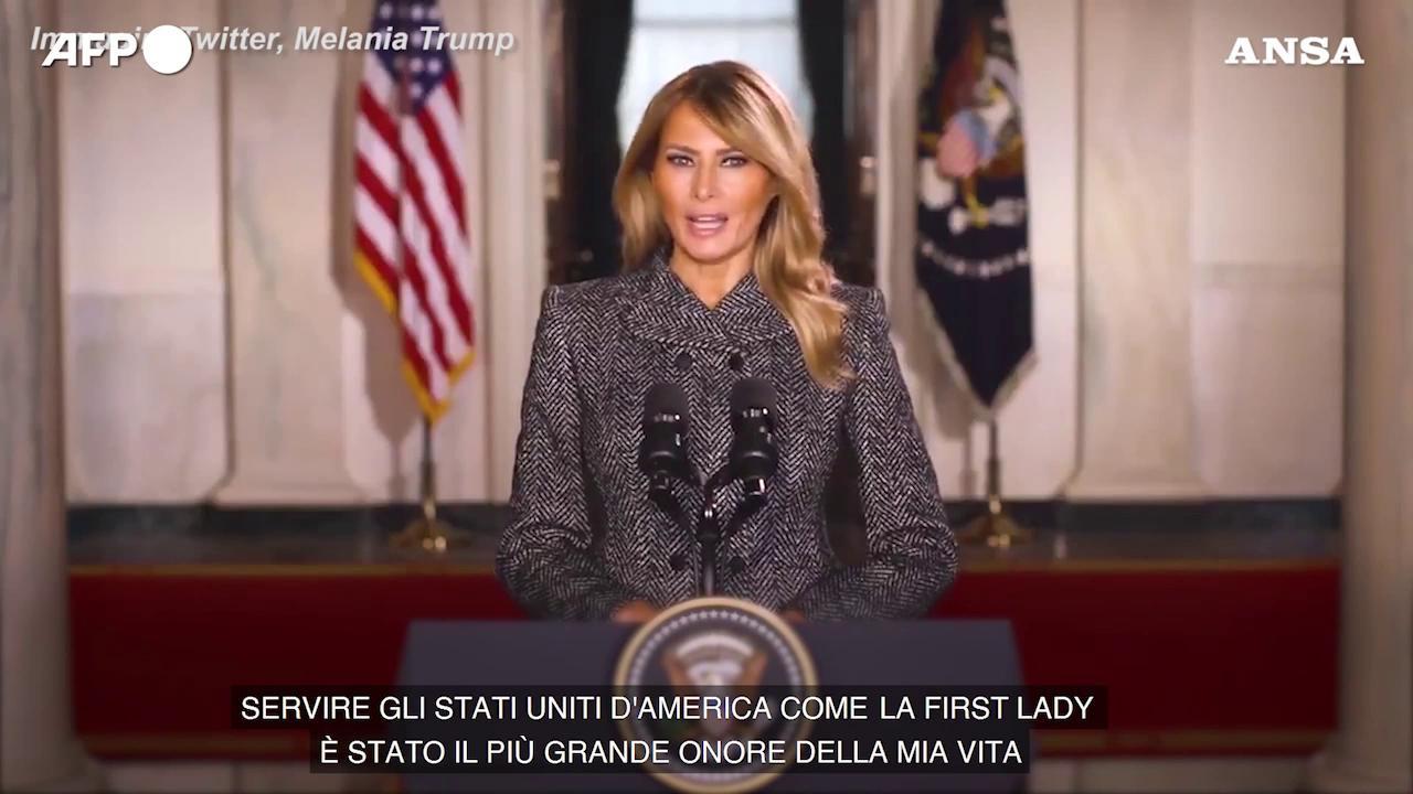Il discorso di addio di Melania Trump La violenza non sara mai giustificata