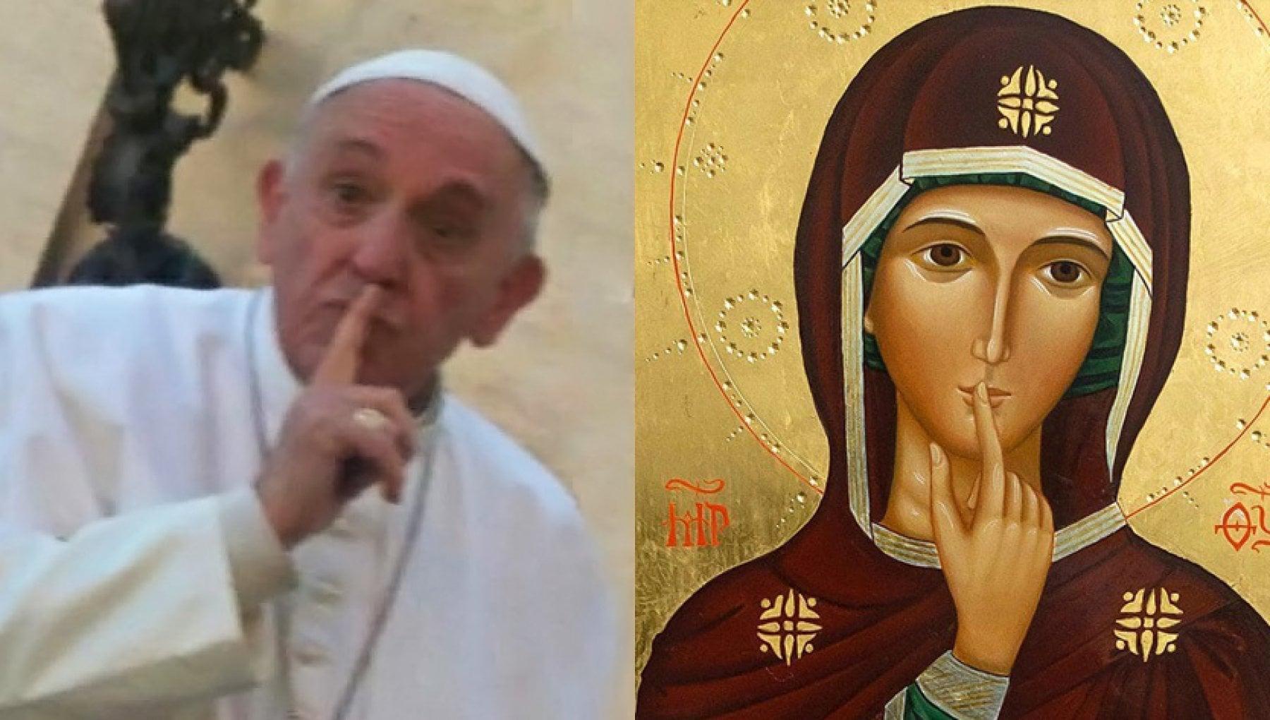 Il messaggio inedito del Papa Le parole sono baci o coltelli il silenzio e la lingua di Dio