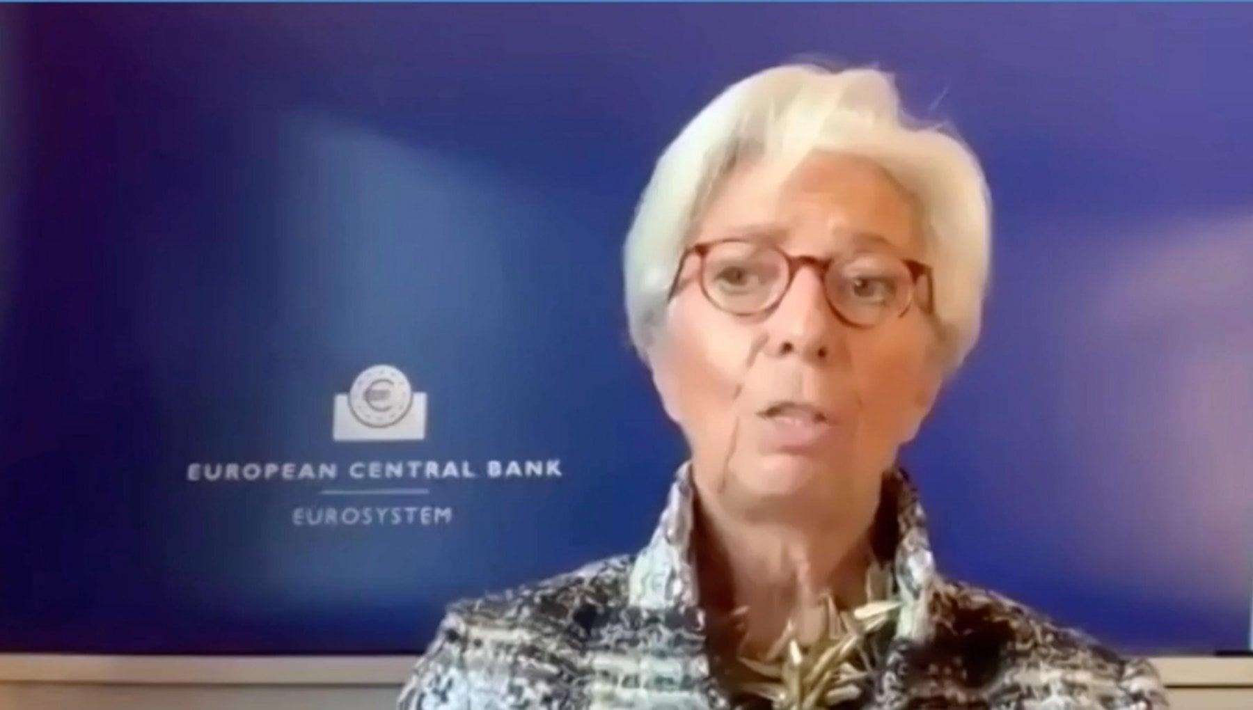 Lagarde Bce leconomia europea non deraglia smart working restera dopo la pandemia