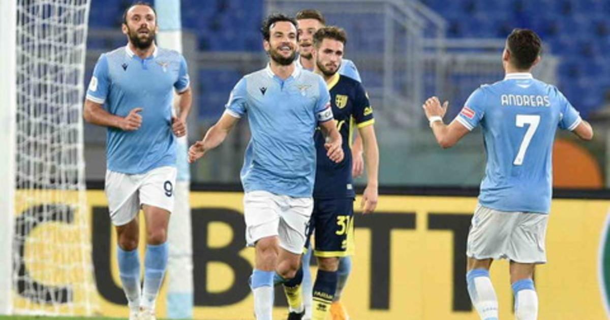 Lazio ai quarti di Coppa Italia Parma battuto 2 1
