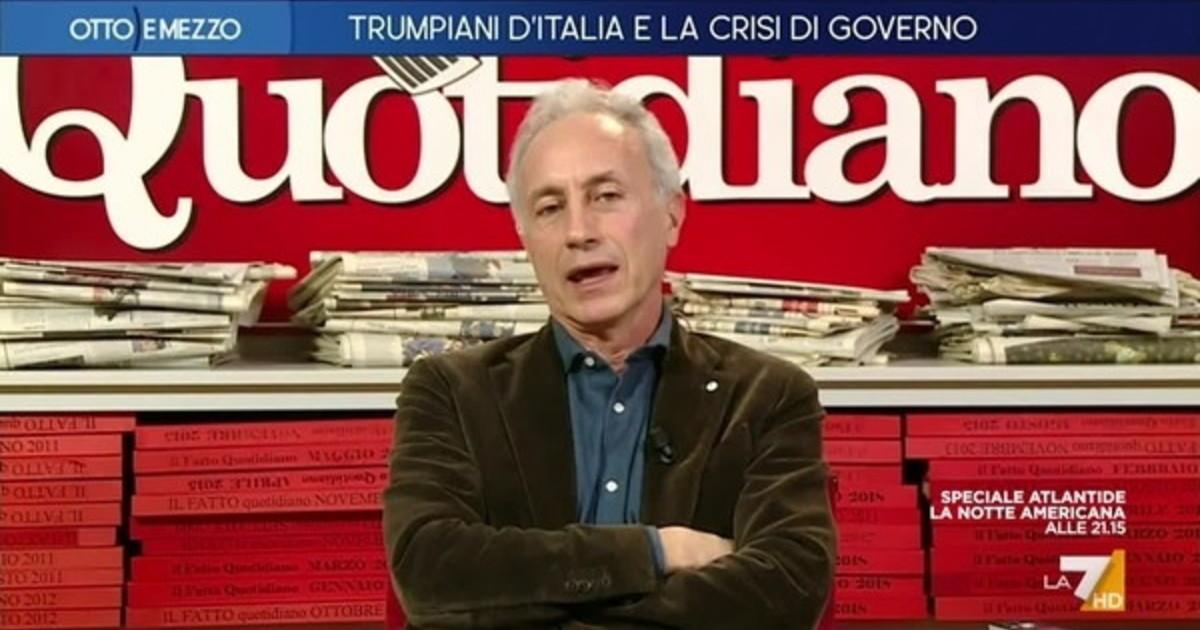Le flatulenze del porta sfga. Travaglio travaso di bile e record dinsulti contro Renzi