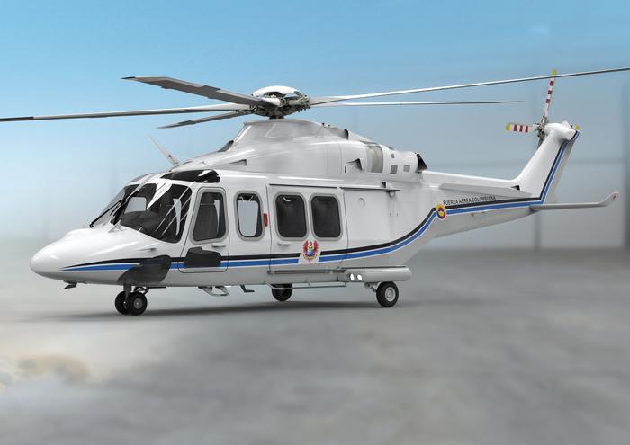 Leonardo lAw139 nuovo elicottero presidenziale in Colombia