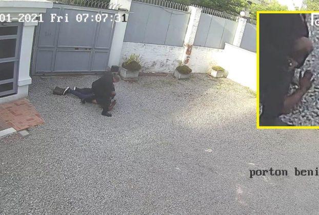Luca Ventre morto dopo essere entrato in ambasciata le immagini del fermo da parte delle guardie 2