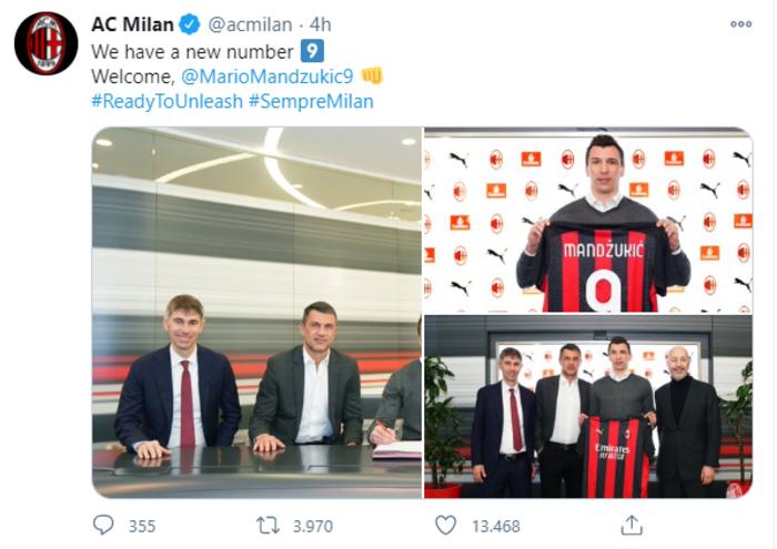 Mandzukic Milan sono pronto a combattere