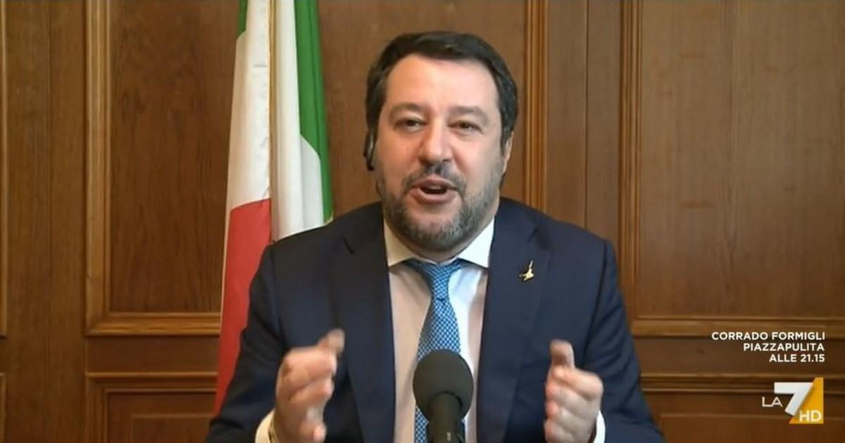 Mi vogliono in galera ma come faccio. Salvini e gioco partita e incontro Unita nazionale sinistra distrutta Video