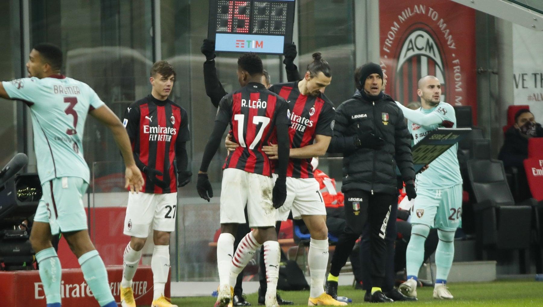 Milan Torino 2 0 Leao e Kessie blindano la vetta. E nel finale si rivede Ibrahimovic